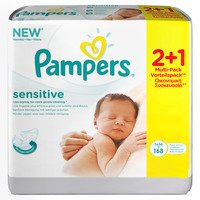 pampers babydoekjes sensitive 3 pak bestellen online kopen. Black Bedroom Furniture Sets. Home Design Ideas